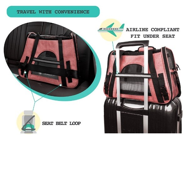 bergan soft-sided airline pet carrier