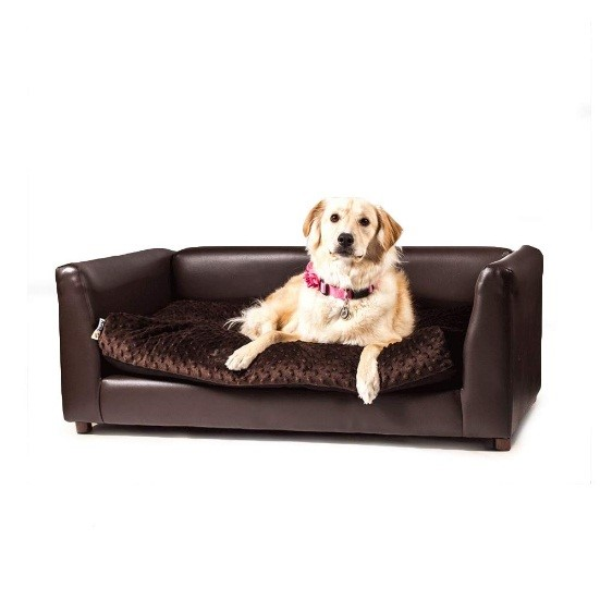 leather dog sofa