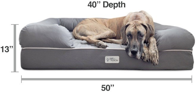 luxury bolster dog bed