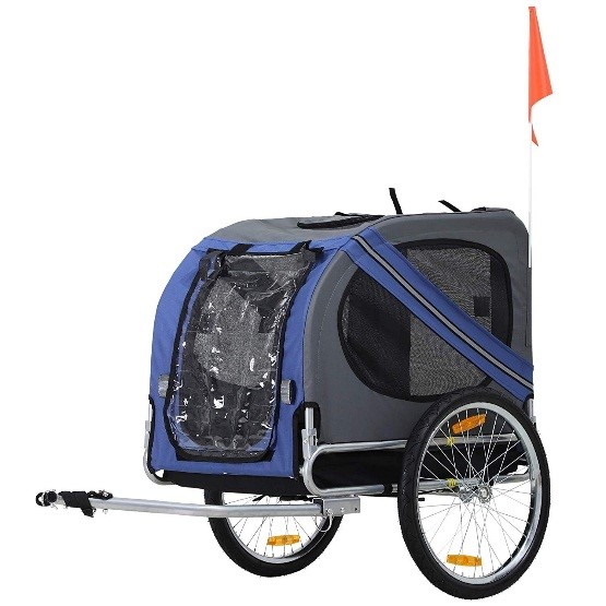 aosom elite pet bike trailer