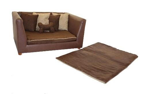 stylish faux leather dog bed