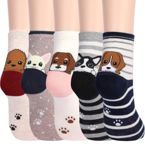 5 Pairs Womens Cute Animals Socks for Girls Funny Funky Novelty Socks