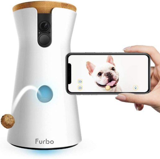 Furbo Dog Camera Treat Tossing Full HD Wifi Pet Camera and 2 Way Audio Designed for Dogs Compatible with Alexa As Seen On Ellen