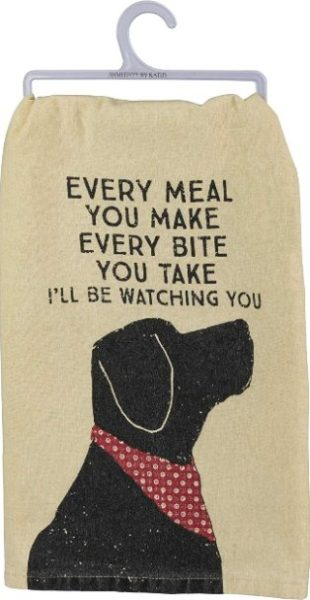 Primitives by Kathy Rustic Dish Towel 28 x 28 inches Ill Be Watching You