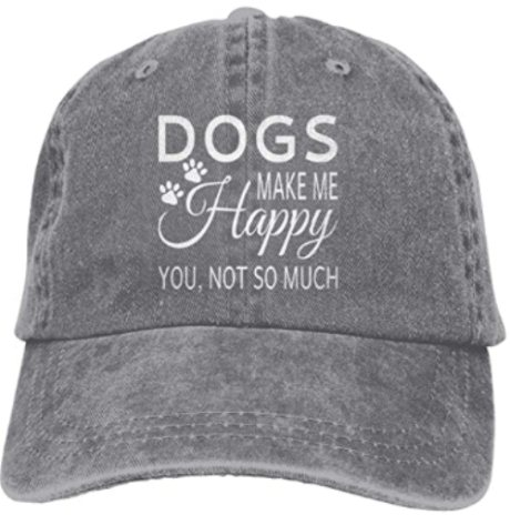 Women Denim Hats Dog Make Me Happy You Not So Much Baseball Caps Adjustable