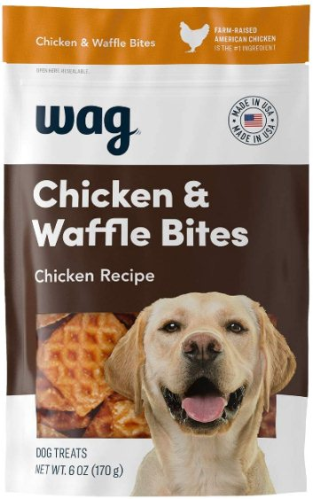 Amazon Brand Wag Treats Chicken and Waffle Bites