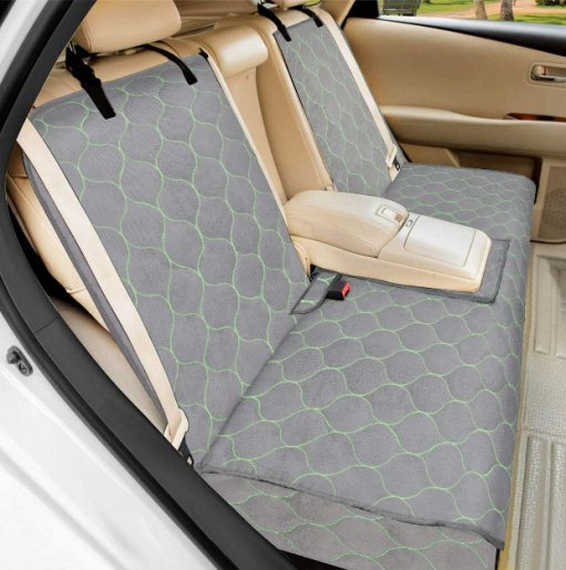 BABYLTRL Dog Car Seat Cover Waterproof Pet Bench Seat Cover Nonslip and Heavy Duty Pet Car Seat Cover for Dogs and Armrest Fits Cars Trucks and SUVs