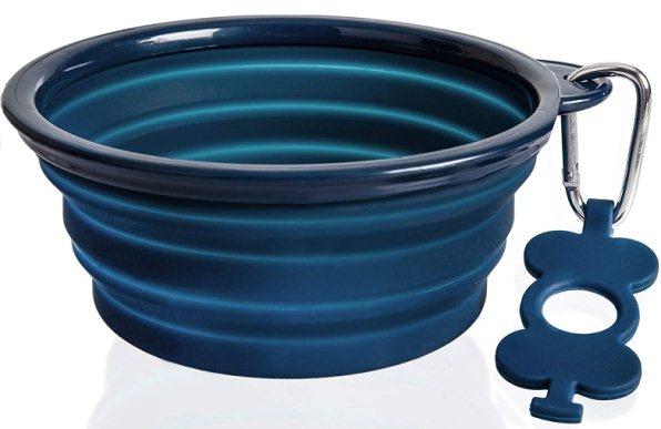 Bonza Large Collapsible Dog Bowl Hiking Dog Bowl for Large Dogs Lightweight Sturdy Leak Proof Food Safe Premium Quality Travel Pet Bowl Solution